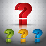 3d question mark vector icon. Royalty Free Stock Photos