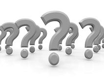 3D Question Marks Royalty Free Stock Photo