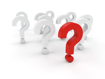 3D question marks Royalty Free Stock Photos