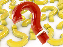 3d question marks. (3d render image Stock Images