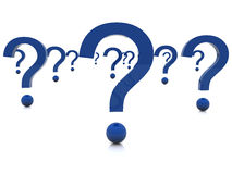 3d Question Marks Stock Photography