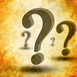 3d question marks Royalty Free Stock Image
