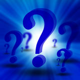3d question marks Royalty Free Stock Images