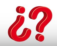 3d question sign Royalty Free Stock Images