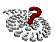 3d Questions Royalty Free Stock Photo