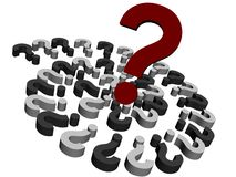 3d Questions Royalty Free Stock Images