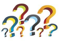 3d questions - vecteurs Photographie stock