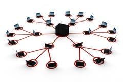 3d réseau global, concept, sur le blanc Photo libre de droits