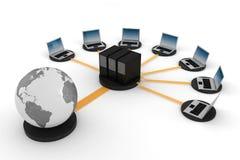 3d réseau global, concept, sur le blanc Images libres de droits