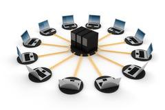 3d réseau global, concept, sur le blanc Photo stock