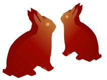 3d rabbits Stock Photography