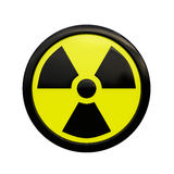 3D Radiation Sign Royalty Free Stock Photo
