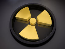 3D radiation symbol Royalty Free Stock Images
