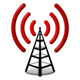 3d Radio antenna stock illustration