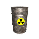 3D Radioactive Barrel Stock Images