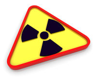 3d radioactive radiation symbol Stock Photography