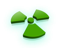 3d radioactive sign Stock Photo