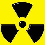 3D Radioactive Sign. 3d radio active warning sign Royalty Free Stock Photo