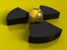 3D radioactivity symbol stock image