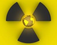 3D radioactivity symbol stock photography
