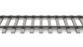 3d rails horizontal Royalty Free Stock Photography