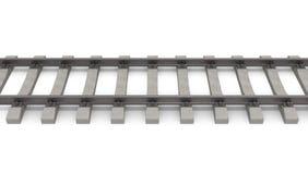 3d rails horizontal. Isolated on white background Royalty Free Stock Photography
