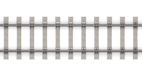 3d rails horizontal top view Stock Photo
