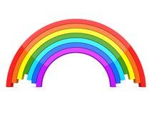 3D Rainbow stock illustration
