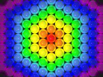 3D rainbow balls Royalty Free Stock Photos
