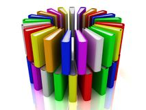 3d rainbow books Stock Image