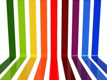 3d rainbow lines Royalty Free Stock Photos