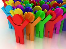 3d rainbow puppets Royalty Free Stock Photos