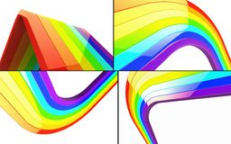 3d Rainbow set Royalty Free Stock Photos