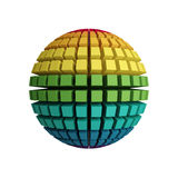3d rainbow sphere. On the white background Stock Images
