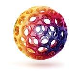 3d rainbow sphere Stock Image