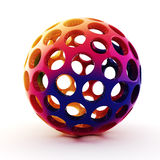 3d rainbow sphere. On white background Stock Photography