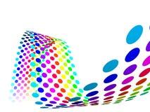 3D Rainbow spots  Stock Images
