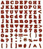 3D raster alphabet,numerals,signs Royalty Free Stock Image