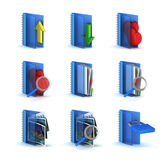 3d raster folders icons Royalty Free Stock Images