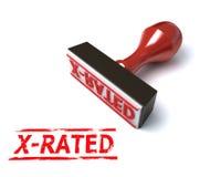 3d rated stämpel x royaltyfri illustrationer