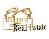 3D Real Estate Logo Stock Photo