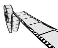 3D realistic film strip Stock Image