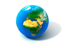 3d realistic Globe Royalty Free Stock Photo