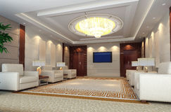 3d reception room rendering Royalty Free Stock Photography