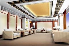 3d reception room rendering Stock Photo