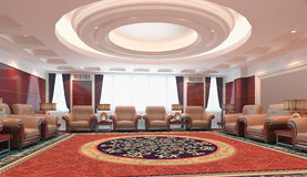 3d reception room rendering Royalty Free Stock Image
