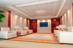 3d reception room rendering Stock Photos