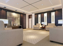 3d reception room rendering. A reception room.3d render Stock Photos