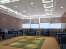 3d reception room rendering Royalty Free Stock Images