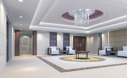 3d reception room rendering, meeting room Stock Image
